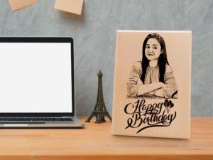 Personalized Wooden Birthday Gift for Girlfriend (6 X 4 Inch)