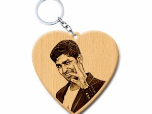 Valentine's Day Customized Keychain for Girl Or Boy Friend (Wood, 2×2 in)