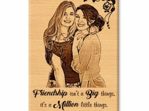 Wooden Engraved Personalized Photo Frame Gift for Best Friend (6×4 in)