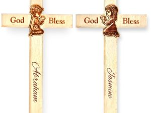 Personalized Engraved Wood Cross for Christmas (Set of 2, 8&...