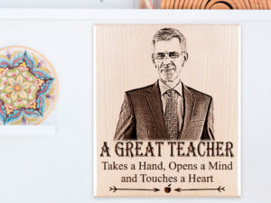 Teacher's Day Personalized Photo Plaque Gift for Him or Her (7×5 inches, Wood)
