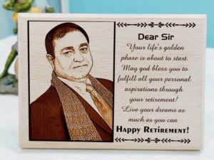 Customized Retirement Gift for Teacher (10 X 8 inches, Wood)