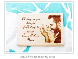 Birthday Personalized Engraved Wooden Photo Frame (5 X 4 inc...