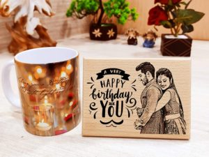 Combo Gift of Personalized Engraved Plaque and Coffee Mug for Partner or Friend( Frame- 5x4in, Mug : 325 ml)