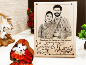 Valentine's Day Combo of Personalized Frame and Teddy ...