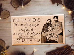 Best Friend Forever Personalized Wooden Plaque for Best Frie...
