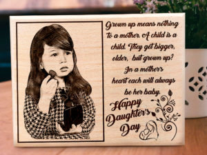 Daughters Day Personalized Wooden Engraved Photo Frame Gift ...