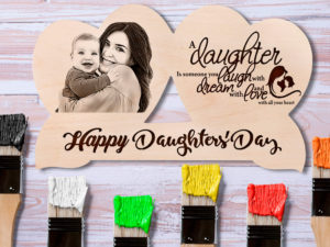 Daughters Day Engraved Personalized Wooden Photo Frame Gift ...