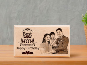 Customized Unique Engraved Photo Frame Birthday Gift For Bea...