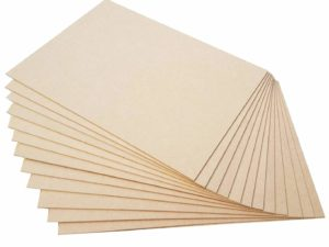 MDF Wood Sheets for Craft Use (Set of 6, 16in x 12in x 4mm)