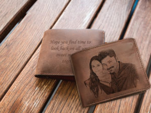 Personalized Engraved Photo Wallet (Brown)