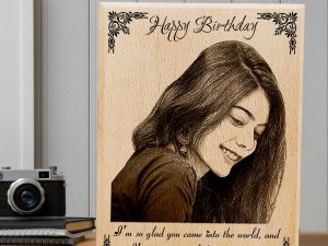 Personalized Engraved Wooden Birthday Photo Frame for Girls ...