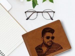 Personalized Mens Wallet For Birthday or Anniversary Gift (C...