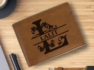 Personalized Wallet with Name for Boys (Croc Tan)