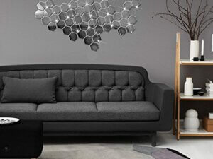 3D Wall Stickers – Hexagon (Silver – Small) &#82...